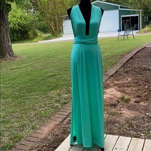 Fashion Nova Exaggerated In Style Maxi Dress- Mint